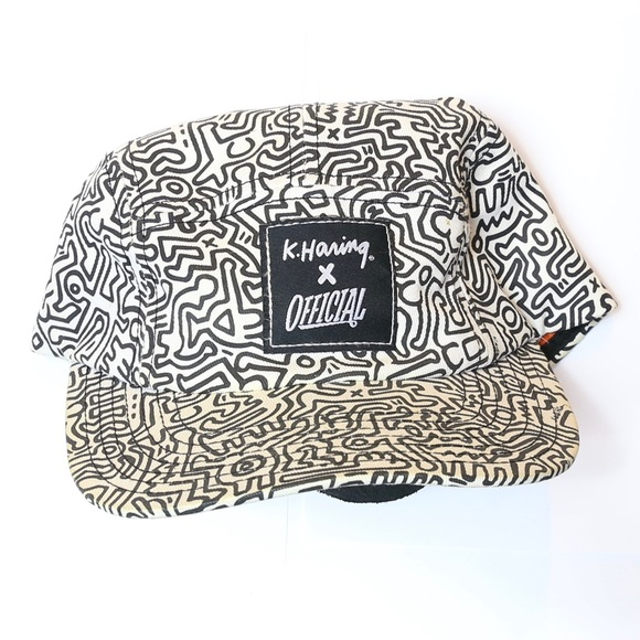 0e3ecdf845b Accessories - Keith Haring Hat White and Black